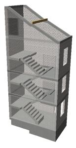 Treppe Altbau - Gesamtansicht